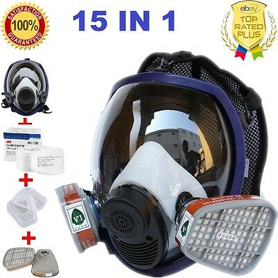 15 in 1 Facepiece Respirator Painting Spraying For 3M 6800 Full Face Gas Mask UK