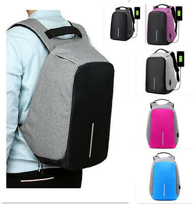 Anti-Theft Water Repellent Backpack USB Port XD Bobby Camera Laptop School Bag G