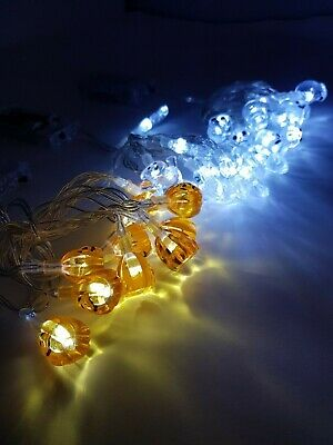 10 Halloween Led String Lights For Pumpkins/wall Decoration Table Lights Fairy