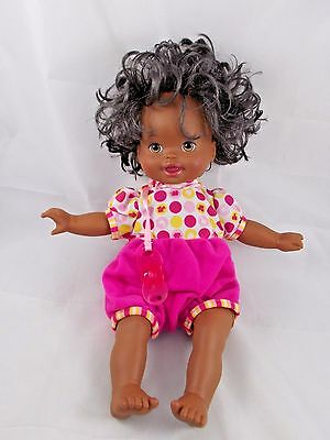 "Mattel Little Mommy Baby Doll Sucks Pacifier Head Moves 2012 13"" AA"