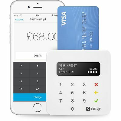 FREE P&P Sum Up AIR Debit Card Reader Chip & Pin Contactless Pay For IOS Android
