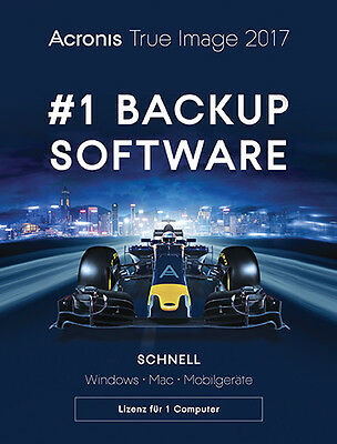 Acronis True Image 2017, PC/Mac, Dauerlizenz, Download, UPGRADE AUF 2018 MÖGLICH