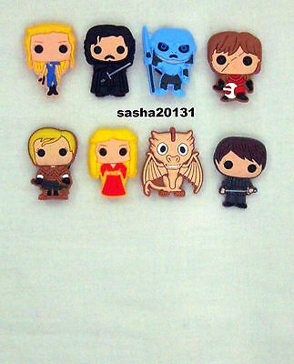 8 X Game Of Thrones  Shoe Charms ,brand New