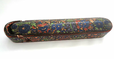 antique persian paper-mache qalamdan, 19th century, Sale!