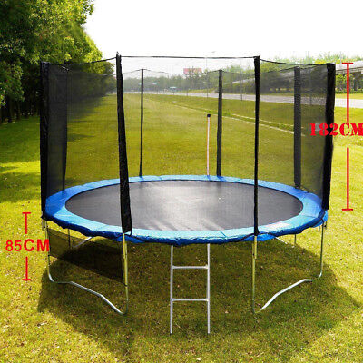 15ft Round Trampoline  Spring Pad Cover Ladder With Safety Net Enclosure