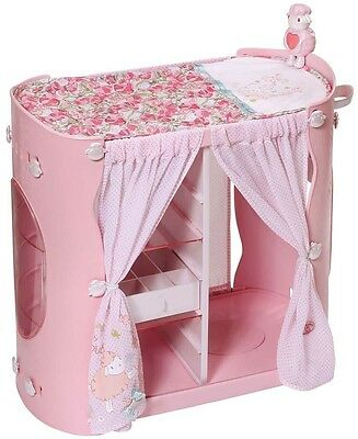 Baby Annabell 2-in-1 Baby Wardrobe/Changing Table Unit Baby Doll Furniture TOY