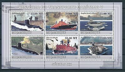 [GBIN16711] Mozambic 2009 Ships - Submarines Good sheet very fine MNH