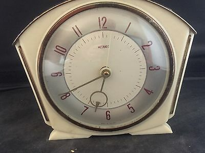 Antique Vintage Art Deco METAMEC Bakelite Plastic Electric Alarm Mantle Clock