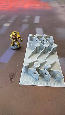 *SCENERY* 10mm ruined corner sections, Dropzone Commander