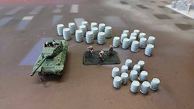 *SCENERY* 15mm wooden barrels - Flames of War etc.