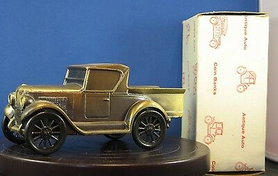 * 1928 Chevy pickup truck cast metal bank by Banthrico - No advertising on it