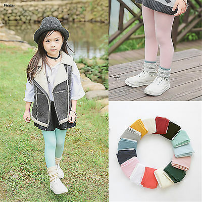 15 Colors Kawaii Soft Cotton Pantyhose Boys Pink Plain Baby Tights Girls White