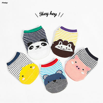 Kawaii Cat Printing Cartoon Baby Socks Girl Boys Striped Fawn Cotton Socks