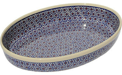 Polish Pottery Oval Baker from Zaklady Boleslawiec 350/120