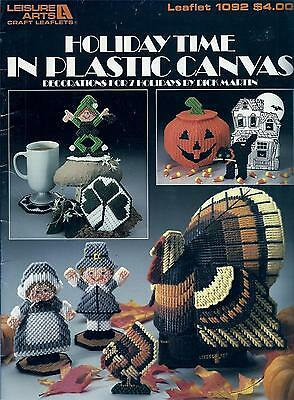 Holiday Time Plastic Canvas Booklet - Halloween, Thanksgiving, Christmas, Easter