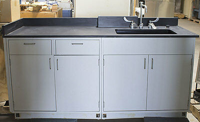 "Hamilton Scientific/Fisher 74"" x 30"" D x 40"" H Epoxy Resin Work Surface +Cabinet"