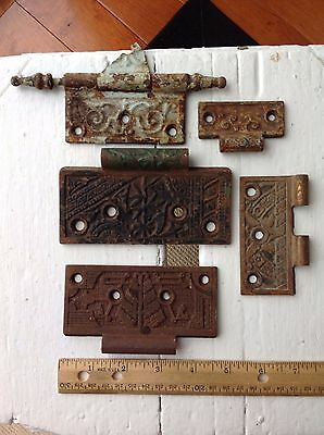 Lot of 5 Antique Vintage Door Hinges