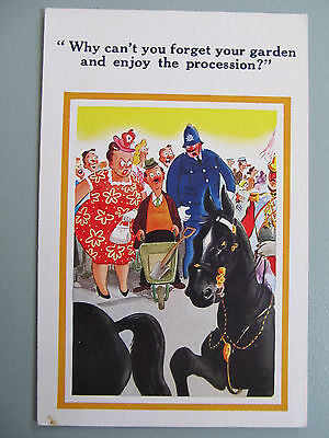 Vintage Sunshine Comic postcard - comic humour,  Enjoy the parade- unused