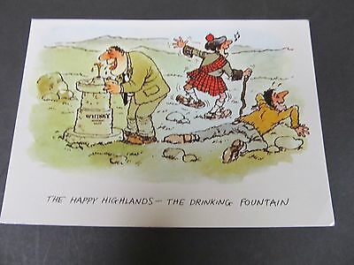 1995 Comic Postcard - Scotland - Happy Highlands the Drinking Fountain