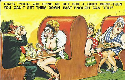 Vintage 1970's Bamforth COMIC Postcard (new condition) Get them down fast #479