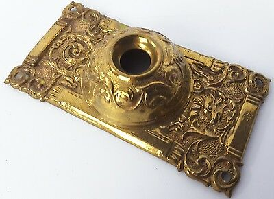 Antique Vtg floral Victorian Ornate Push Button Doorbell Door Bell Cover Plate