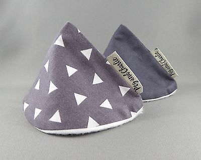 Wee Wee Tee Pee Set - Tossed Grey Triangles
