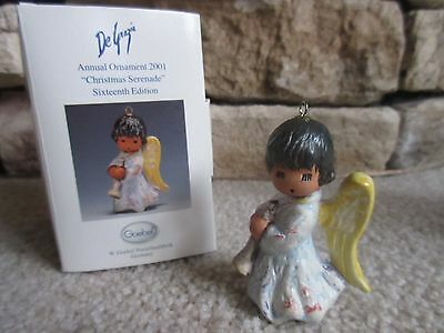New! 2001 DeGrazia Christmas Serenade Ornament-2nd ornament ships for $1 more
