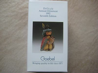 1992 DeGrazia Indian Boy with Pot Seventh Annual Edition Goebel Ornament
