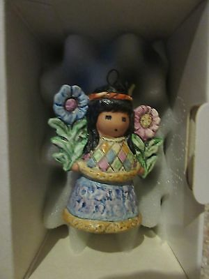 1999 DeGrazia Little Cocopah Indian Girl-2nd ornament ships for $1 more