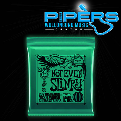 Ernie Ball 12-56 Not Even Slinky Green 2626 12/56 Electric Guitar Strings Set
