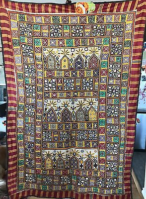 Antique Indian Shisha Embroidered Wall Hanging 100cm x 145cm