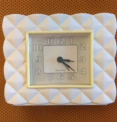 Robert Abbey, Table Top, Alarm Clock, Art Deco, Sophisticated Quilted Design