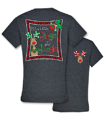 Southern Couture Jingle Jangle Christmas Dark Heather Grey Short Sleeve T-Shirt