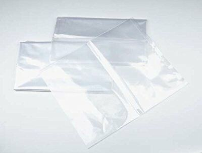 15x36 - 1 mil. Clear Plastic Flat Open Poly Bag  (100 Pack)   MagicWater Supply