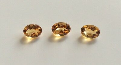 5 Pc X Oval Cut Shape Natural Citrine 6Mm X 4Mm Faceted Loose Gemstone