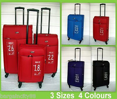 3Pc 47-72cm Lightest Spinner Luggage Travel Suitcase Rolling Trolley Enviro Lite