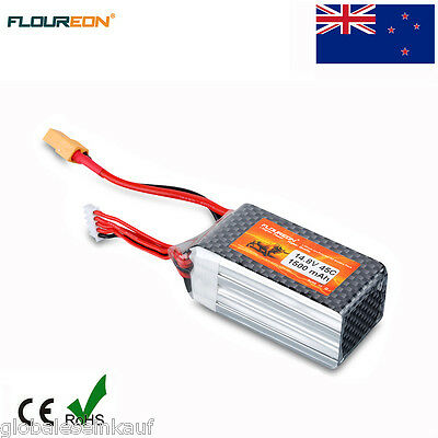 4S 14.8V 1500mAh 45C LiPo Battery XT60 Plug for RC Car Airplane Helicopter Drone