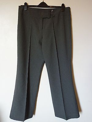 "Senior Girl's School Bootleg Trousers Pants Size 18 Leg 31"" NEW Grey Uk Freepost"
