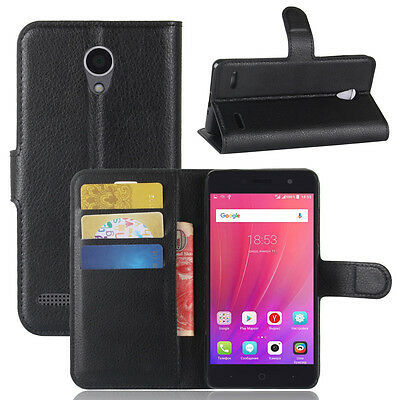 Luxury Flip Magnetic Card Wallet PU Leather Case Stand Cover For ZTE Blade A521