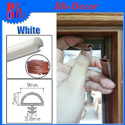 Extrusion PVC Rubber Weather Stripping Door Frame Seal Anti Collision B009 White