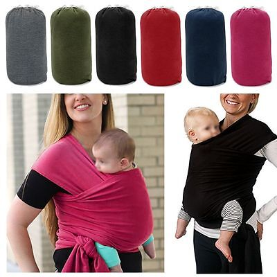 Baby Sling Stretchy Wrap Carrier Breastfeeding Newborn Birth- 3years Toddler New