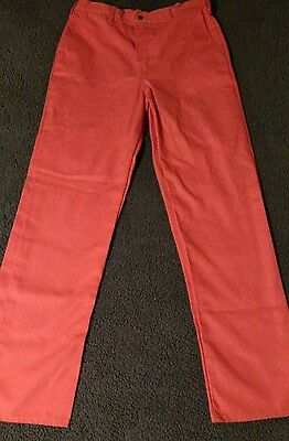 Stanco Safety Products Flame Resistant Orange Pants Size 34x32