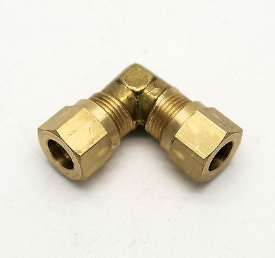 "British Made 90 DEGREE 5/16"" TO 5/16"" BEND BRASS COMPRESSION FITTING  (31)"
