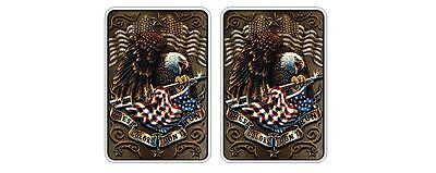 These Colors Don't Run Sticker Decal US USA Army Bald Eagle Marine Navy Patriot
