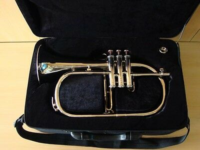 BRAND NEW NICKEL Bb FLAT FLUGEL HORN+WITH FREE HARD CASE+M/P FAST SHIPPING
