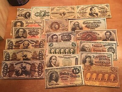 Copy 19PC US Fractional Set Note Currency Reproduction