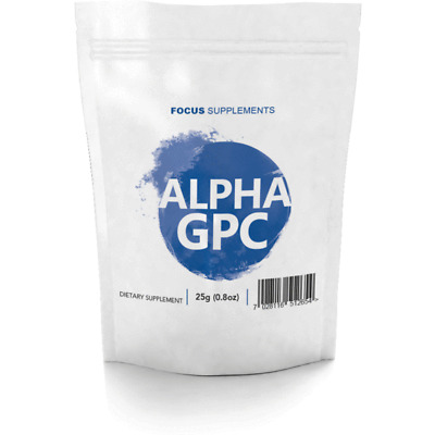 Alpha GPC 99% Pure Powder |  25g/50g/100g  |  Improve Focus, Memory and Learning