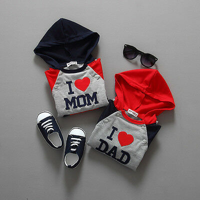 Love daddy Conjoined Long-sleeved jersey Love mother Crawling clothes