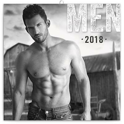 MEN HUNKS GUYS CALENDAR 2018 SQUARE 30cm x 30cm WALL + FREE UK POSTAGE BY PRESCO