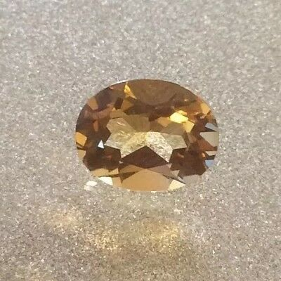 1 Pc X Oval Cut Shape Natural Citrine 8Mm X 6Mm Faceted Loose Gemstone